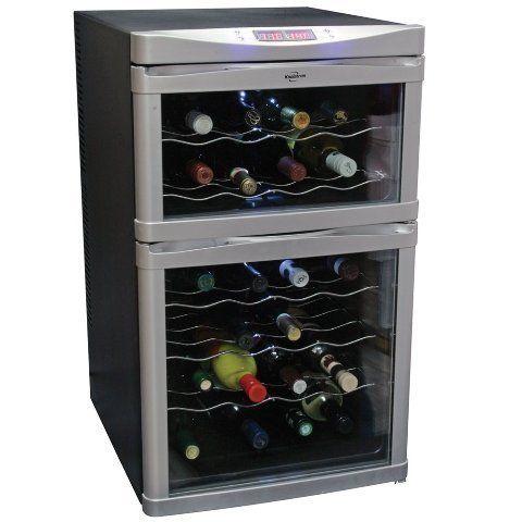 Best Wine Rack Koolatron Temperature Control Dualzone Wine Cellar With Digital Thermometer Glass Mirror Dual Zone Wine Cooler Wine Refrigerator Italian Wine