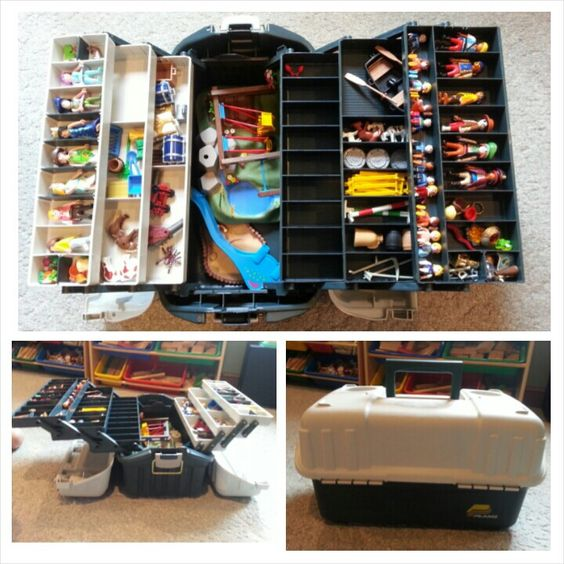 Playmobil storage and boxes on pinterest for Kinderzimmer playmobil