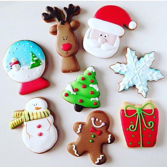 Adoro cookies de Natal, sempre fofos! Por @thecookieshop ⛄️❤️ #kikidsparty