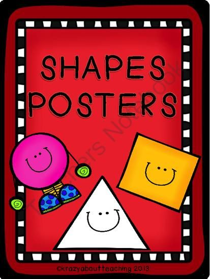 Shapes Posters from Krazyaboutteaching on TeachersNotebook.com -  (39 pages)  - Shapes posters to be posted in your classroom or used in centers.