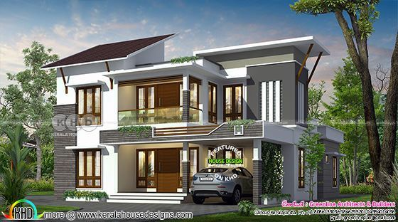 2622 Sq Ft Contemporary House With 4 Bedrooms Rumah