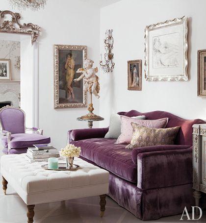 velvet couch....love