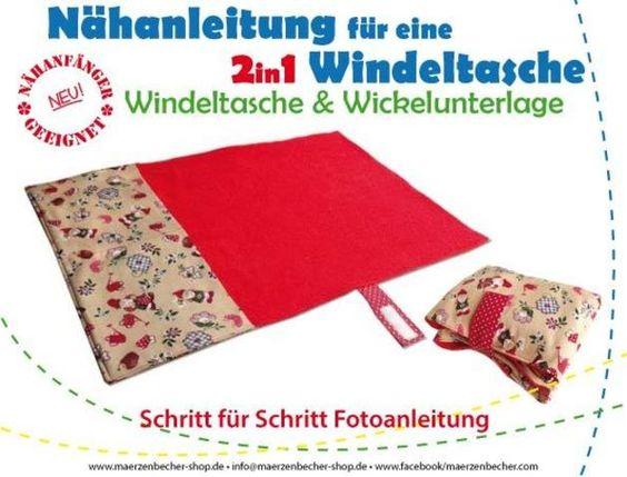 Nähanleitungen Baby - Nähanleitung - 2in1 Windeltasche/Wickelunterlage - ein Designerstück von Maerzenbecher bei DaWanda