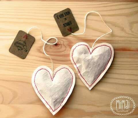 Bolsitas de té personalizadas de Mimai Handmade. https://m.facebook.com/mimaihandmade/