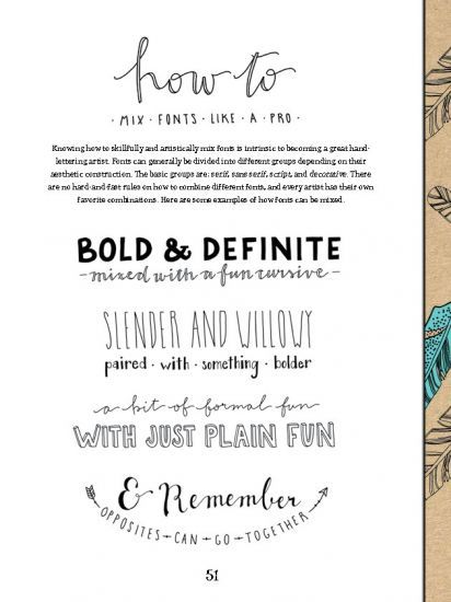 creative lettering and beyond - how to illustrate lettering: