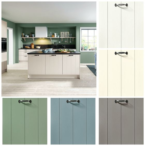 Our #Schüller country #kitchens come in six attractive colours - k chenzeile l form
