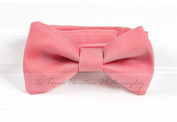 Boy's, Girl's Bow Tie, Newborn, Baby, Child- Dark Coral | Toma's Tutus and Things