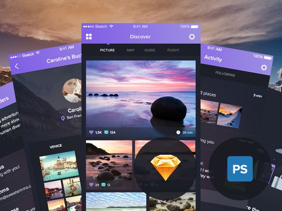 Download UI Kit here - http://janlosert.com/night-travel/  I've spent the last two months preparing this Sketch and Photoshop UI Kit. It was really interesting time when I've learned how to scale m...