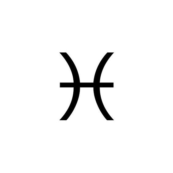The symbol for the constellation Pisces