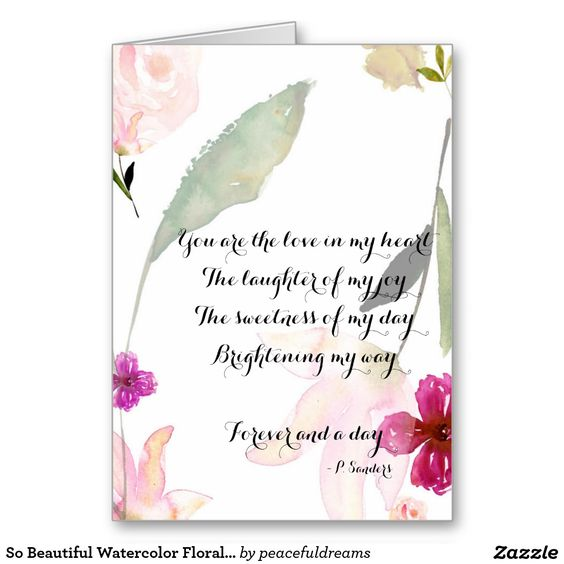 So Beautiful Watercolor Floral Forever Greeting Card