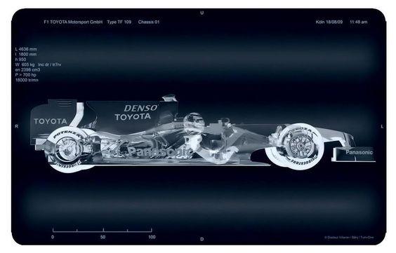 TOYOTA TF109 X-Ray