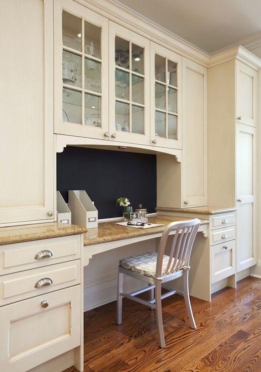 Built In Kitchen Desk Gray Fretwork Cushion Round Home Design Ideas Pinterest Desks Ivory