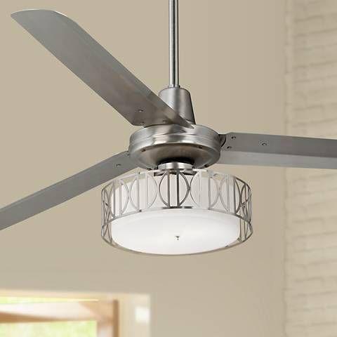 60 Casa Vieja Turbina Art Deco Brushed Steel Ceiling Fan