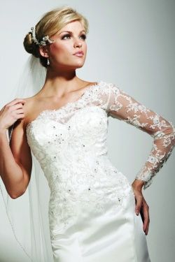One shoulder styles minimize broad shoulders wedding for Best wedding dress for wide shoulders