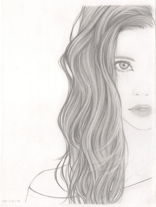 Tumblr Girl Hair Drawing | Girl With Curly Hair Tumblr ...