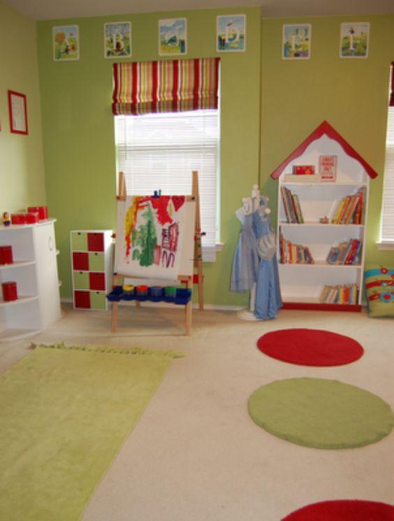 Decoration Cute Kids Playroom Paint Ideas Combining Bedroom Green