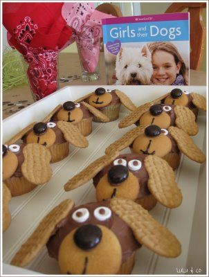 dog cupcakes: Nutter Butter, Party Idea, Puppy Dog Cupcake, Puppy Cupcake, Doggie Cupcakes, Themed Cupcake