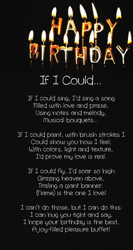 12 Happy Birthday Love Poems For Her Him With Images Romantic