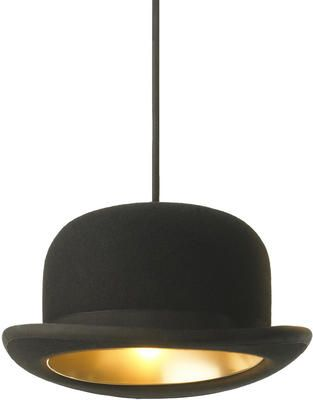 Innermost Jeeves Bowler Hat Pendant Light by Jake Phipps from Heal's