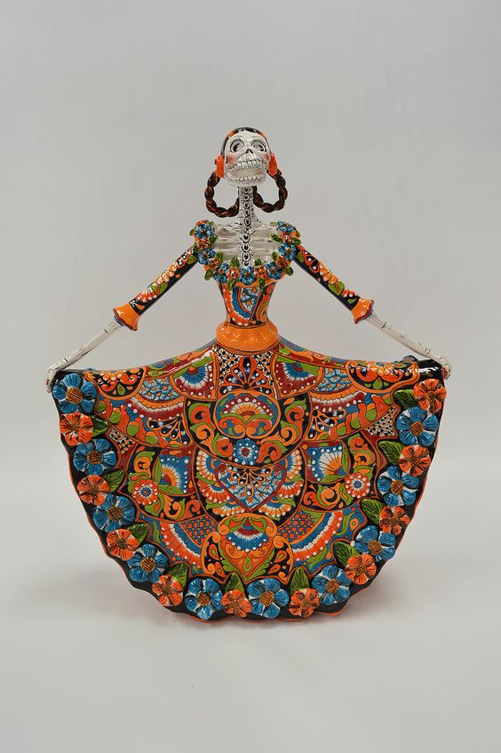 Day of the Dead Catrinas are hand painted in classic Talavera. These handcrafted figures come from Dolores Hidalgo, Mexico and capture all the colorful charm of the great Mexican art, the Talavera. Al