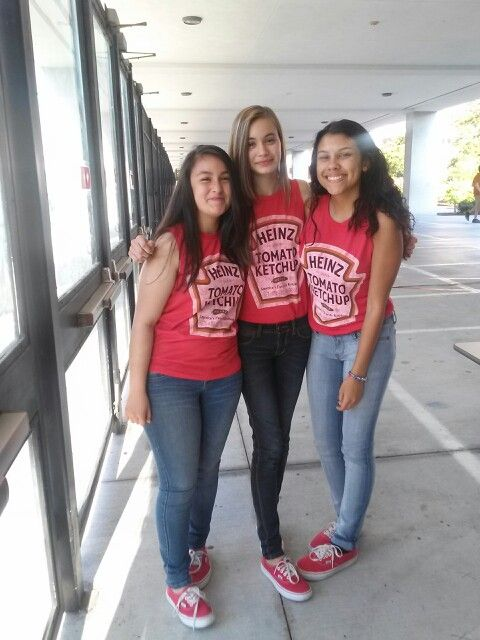 Twin day at school  triplets in this case. Twin Day  Make a cute outfit inspired by a colorful t shirt   My