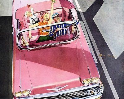 1958 Chevrolet Impala Convertible - Promotional Advertising Poster