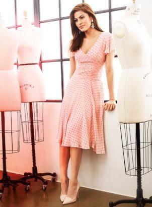 Eva Mendes models her clothing line for New York & Company.