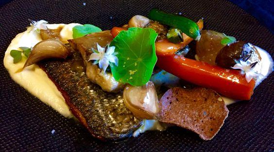 Mulet et légumes de saison