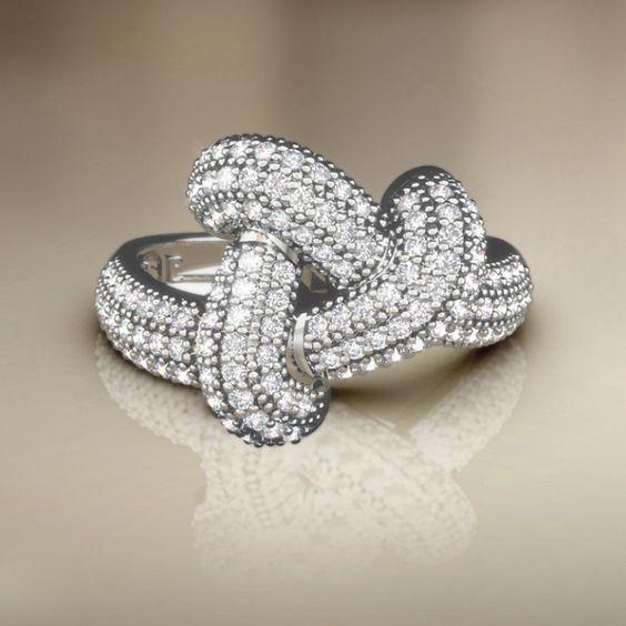 Meia Aliança Knot I - Anéis de Noivado   Poésie - Joalheria Virtual