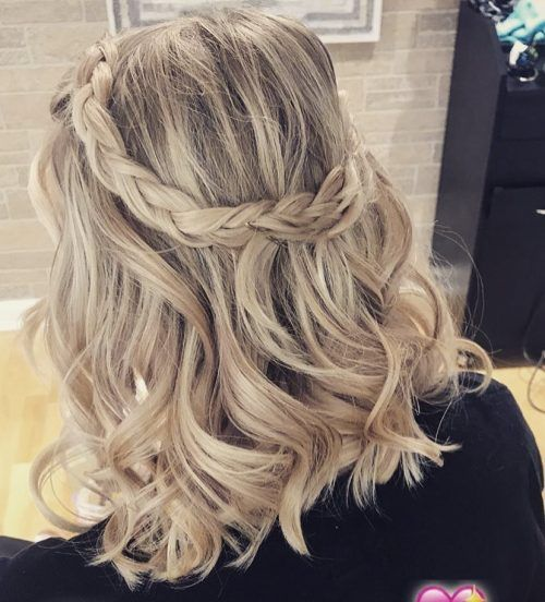 100 Cute Easy Hairstyles For Shoulder Length Hair Prom Hairstyles For Short Hair Hair Lengths Hair Styles