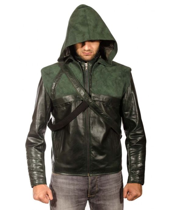 Green leather jacket with hood – Your jacket photo blog