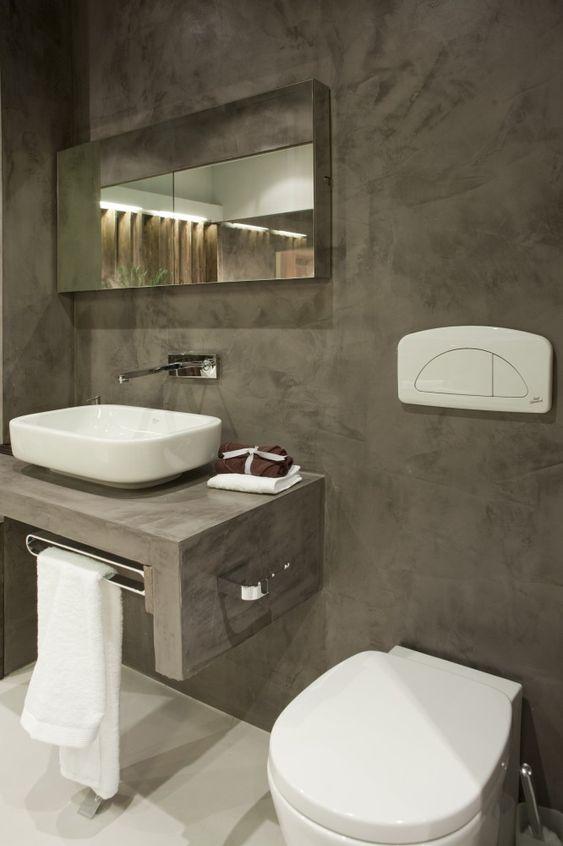 Baño Pequeno Microcemento:Baño Microcemento