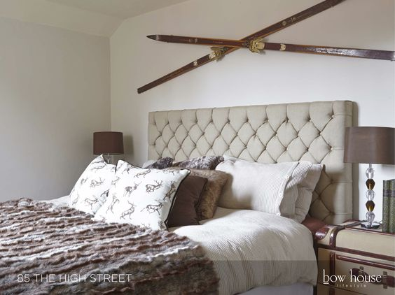 Bow house lifestyle project interior design masculine for Masculine headboards