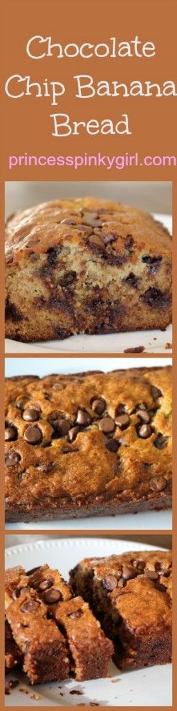Chocolate Chip Banana Bread | Banana Bread Recipes and Bread Recipes