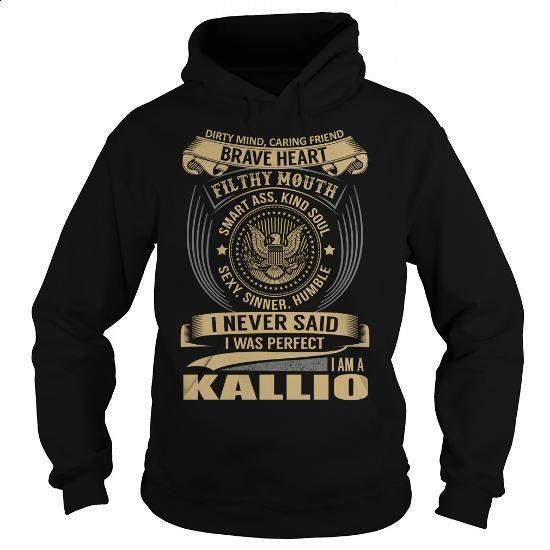 KALLIO Last Name, Surname T-Shirt - #teacher gift #gift sorprise. ORDER NOW => https://www.sunfrog.com/Names/KALLIO-Last-Name-Surname-T-Shirt-Black-Hoodie.html?id=60505