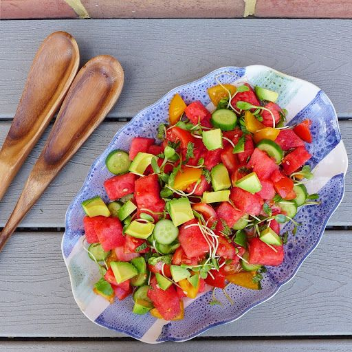 Watermelon Tomato Salad, for Picnicking Recipe on Yummly