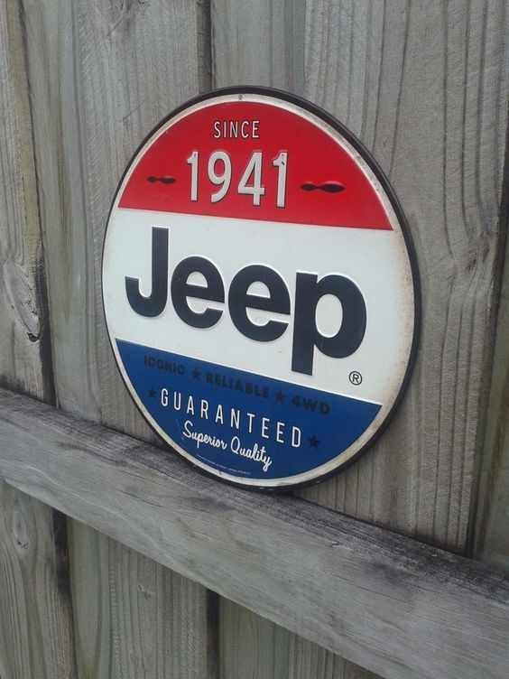 JEEP SINCE 1941 METAL SIGN VINTAGE STYLE WITH RAISED LETTERS 12 BY 12 INCHES…