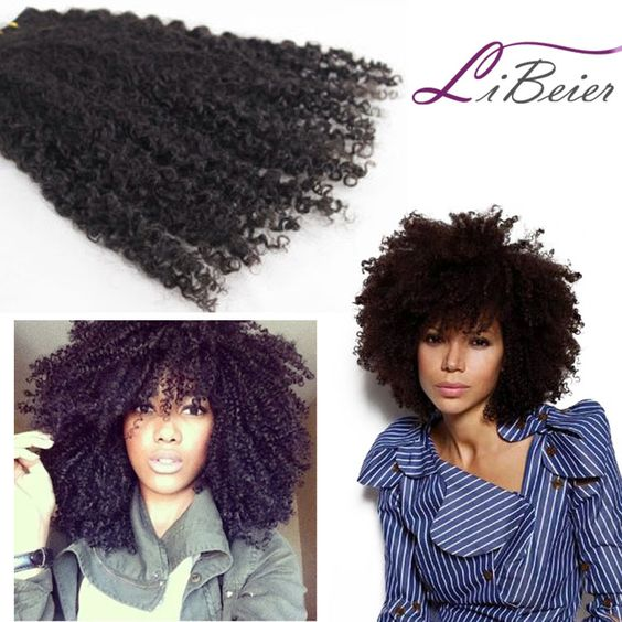1b# color afro kinky curl hair weft ★.machine double wefted-very firm and strong weft stitched method tangle and shedding free. MSN:LXL58LinLyn@outlook.com