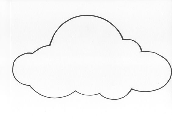 cloud template with lines - cloud templates 28 images diy paper cloud mobile