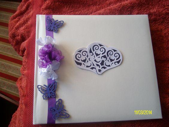 Wedding Album to match wedding guest book and wedding invitations.