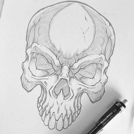 Imagenes De Calaveras Para Dibujar A Lapiz Dibujos Tatuaje Antiguo Imagenes De Calavera