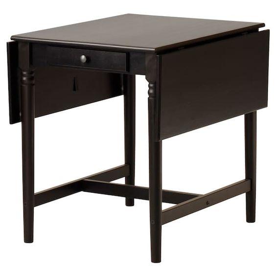 Ingatorp Drop Leaf Table Black Brown Ikea Dining Table Drop