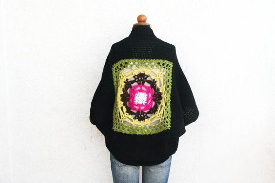 Crochet Mandala Shrug OOAK  Hippie Shrug  by aureliaslittleroom
