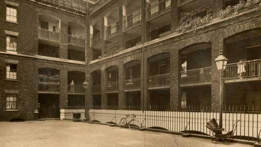 4 Streatham Street Model Dwellings Parnell House 1850 Henry Roberts London Peabody Housing London Street