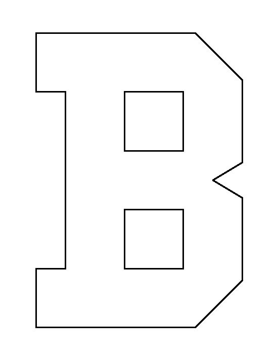 Letter B pattern. Use the printable outline for crafts, creating ...