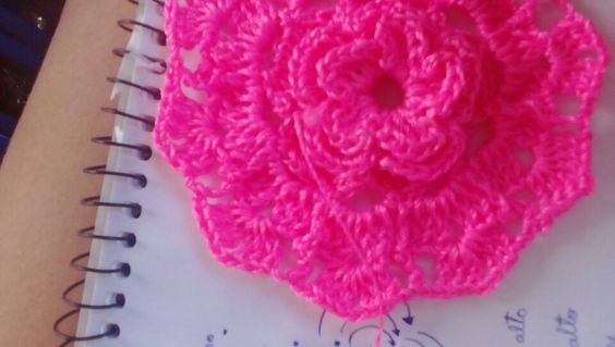 Flor em croche