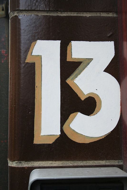 Apartment door number 13 and friday the 13th on pinterest for 13 door