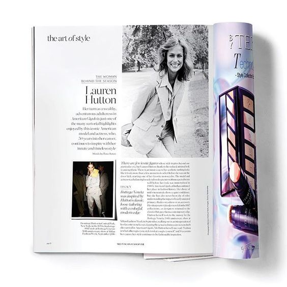 Fashion is what others give you; style is what you give yourself.  This pearl of sartorial wisdom is just one of the reasons why we chose the inimitable #LaurenHutton as our Woman Behind The Season in the Spring issue of #PORTERmagazine (on sale now!)  via PORTER MAGAZINE OFFICIAL INSTAGRAM - Celebrity  Fashion  Haute Couture  Advertising  Culture  Beauty  Editorial Photography  Magazine Covers  Supermodels  Runway Models