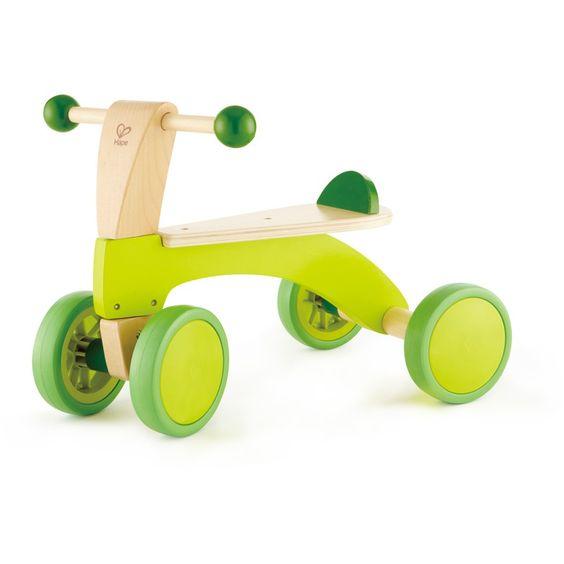 Rutschrad, Rutschfahrzeug, Rutscher, grün, aus Holz, von Hape #MomPreneursAdventsbasar
