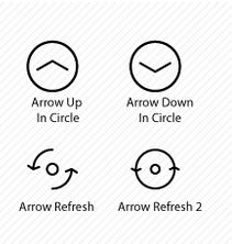Cool arrow icons from Icons Mind